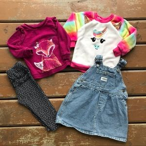 Toddler Girls Clothing Lot - 4 items - 18 months